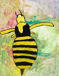 Peinture d'insecte